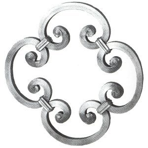 1010/3  12mm SQ. FORGED ROSETTE DESIGN 290mm DIA.