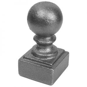 "108  1""SQ. NEWEL POST BALL CAP 1 1/4""W x 2 1/2""H"