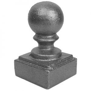 "109 1 1/4""SQ. NEWEL POST BALL CAP 1 3/4""W x 2 3/4""H"