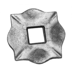 116/A/7  10mm FORGED BASE PLATE 100 x 100mm WITH 30mm HOLE