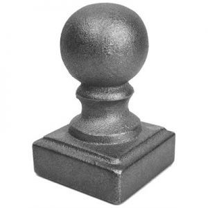 "118 2""SQ. NEWEL POST BALL CAP 2 1/2""W x 3 3/4""H"