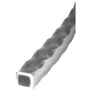 1374/15  50mm SQ. HAMMERED TUBE 6000mm (20 FT.)