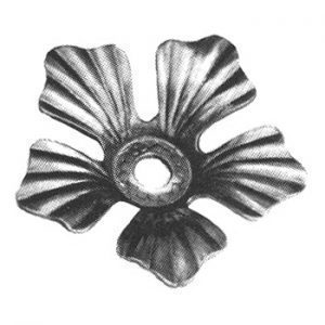 138/3  2mm FORGED ROSETTE 88mm DIA. WITH 17mm HOLE