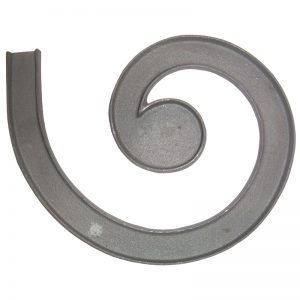 """150CR 2 1/4"""" MALLEABLE IRON RIGHT CHANNEL LATERAL SCROLL FOR MCRW"""