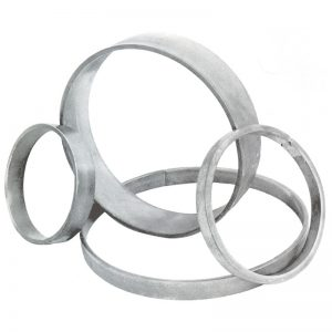 157/1  12 x 6mm FORGED RING 100mm DIA.