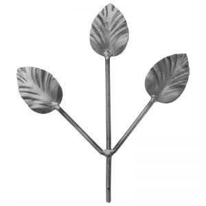 32/04  FORGED LEAVES 180mm WITH 4mm RD. STEM