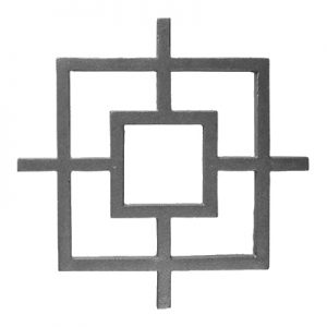 "38-SQ  CAST MODERN DESIGN INSERT 10 3/4""W x 10 3/4""H (CUSTOM ORDER)"