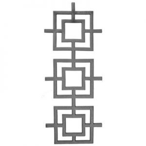 "38-XL  CAST MODERN DESIGN PANEL 9 3/4"" x 24 1/4"" (CUSTOM ORDER)"