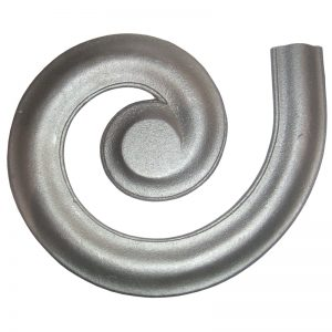 """4441GL  2 1/4"""" MALLEABLE IRON LEFT MOLDING LATERAL SCROLL FOR MCRW"""