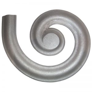 """4441GR  2 1/4"""" MALLEABLE IRON RIGHT MOLDING LATERAL SCROLL FOR MCRW"""