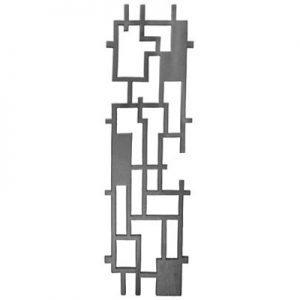 "61-B  CAST DECORATIVE PANEL 8 1/8"" x 27 1/2"" (CUSTOM ORDER)"