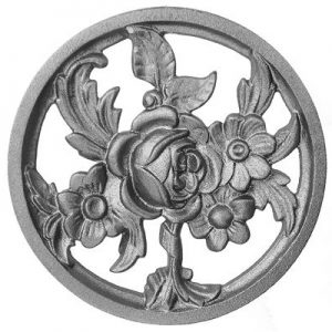 """688  (SF) CAST TRADITIONAL ROSE CIRCLE 8 1/2""""DIA."""