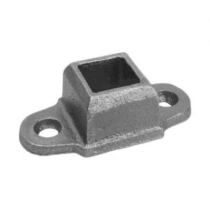 "9534  3/4""SQ. CAST FLANGED SHOE WITH 3"" x 1 1/2"" BASE (CUSTOM ORDER)"