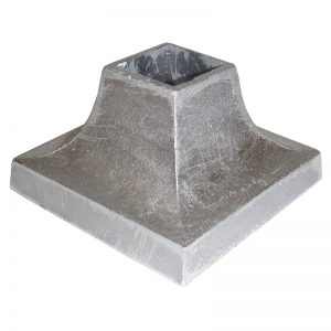 "AL11  1""SQ. ALUMINUM COVER SHOE 3 3/8""W x 2""H"