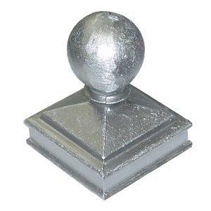 """AL118  2""""SQ. ALUMINUM BALL CAP 2 5/8""""W x 3 3/4""""H"""