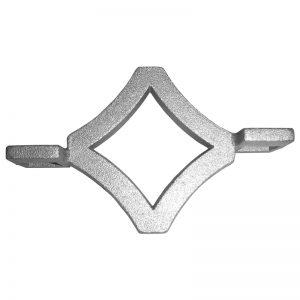 "ALDIAMOND3 5/8""SQ. ALUMINUM DIAMOND INSERT 4 3/4"" x 3"""