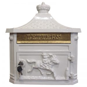CM09-WH VICTORIAN WALL MOUNT MAILBOX - WHITE