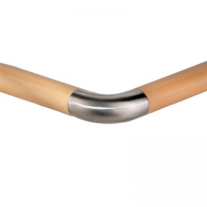 E600-SS 45mm SS 90° CURVED ELBOW FOR WOOD RAIL