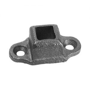 "EE  1/2""SQ. CAST FLANGED SHOE WITH 2 1/4"" x 1 1/4"" BASE"