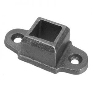 "EE-5/8  5/8""SQ. CAST FLANGED SHOE WITH 2 9/16"" x 1 3/8"" BASE (CUSTOM ORDER)"