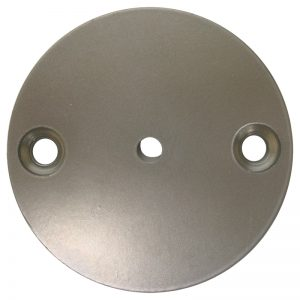 """FD3316-31R 3""""RD. STEEL FLAT DISC WITH 2 HOLES (POWDER COATED)"""