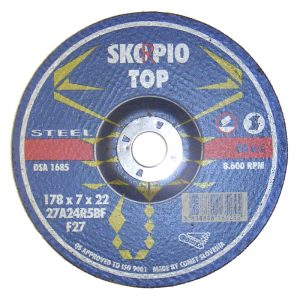 "GWH41214 4 1/2""x1/4""x7/8"" SKORPIO TOP GRINDING WHEEL"