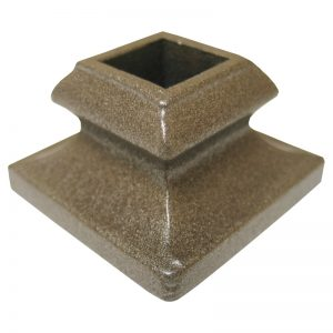 """PS9503P 1/2""""SQ. SHOE 7/8""""H WITH SHOULDER - PEWTER"""