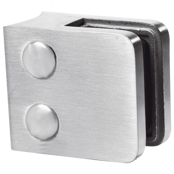 SSGC306XX16S SMALL SQUARE GLASS CLIP SS316 FOR 38.1mm POST