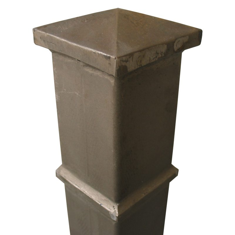 """STP54434 4 3/4""""SQ. HOLLOW STEEL POST 54""""H, 0.1"""" THICK"""