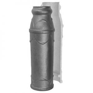 """7192 3 1/2""""RD. CAST POST 19 1/4""""H WITH 5 3/4""""DIA. BASE (CUSTOM ORDER)"""