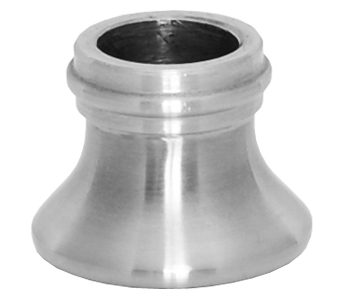 """E58SS 5/8""""RD. STAINLESS STEEL SHOE 1 1/4""""DIA. x 1""""H"""