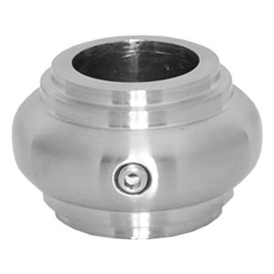 """E9481SS58 5/8""""RD. STAINLESS STEEL COLLAR WITH SET SCREW 1 1/4""""W x 3/4""""H"""