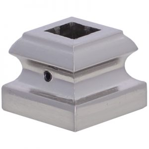 """EP8524SQ12BC  1/2""""SQ. ELECTRO PLATED SHOE WITH SET SCREW 1 5/16""""W x 1""""H - BRUSHED CHROME"""