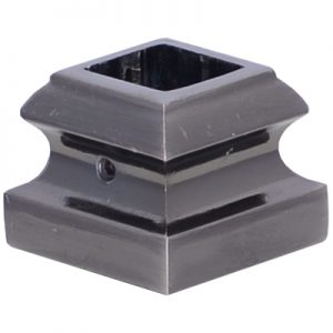 """EP8524SQ58BN  5/8""""SQ. ELECTRO PLATED SHOE WITH SET SCREW 1 5/16""""W x 1""""H - BRUSHED NICKEL"""