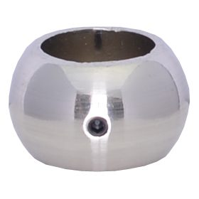 """EPC534BC 3/4""""RD. ELECTRO PLATED COLLAR WITH SET SCREW 1 3/16""""W x 3/4""""H - BRUSHED CHROME"""