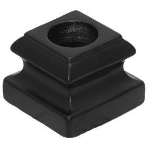 "PS8524R58B 5/8""RD. 8524 SHOE WITH SET SCREW 1 5/16""W x 1""H - SATIN BLACK"