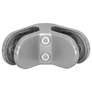 SSGC014XX16S 90-DEGREE ROUND GLASS CLIP SS316 FOR GLASS TO GLASS