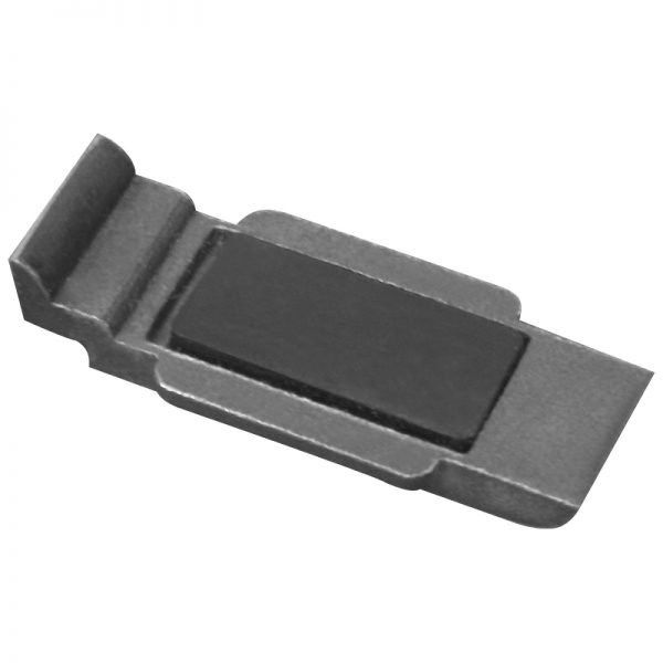 SSGC411XX16S LARGE SQUARE GLASS CLIP SS316 FOR FLAT POST WITH BOTTOM PLATE