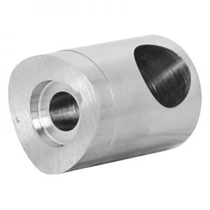 SSHD3230404S 22mm ROD HOLDER, BLIND LEFT FOR 42.4mm POST WITH 12.7mm HOLE (DISCONTINUED)