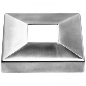 SSZC1054004S SQUARE PLATE COVER 105 x 25mm FOR 40 x 40mm SQUARE POST (SS304)