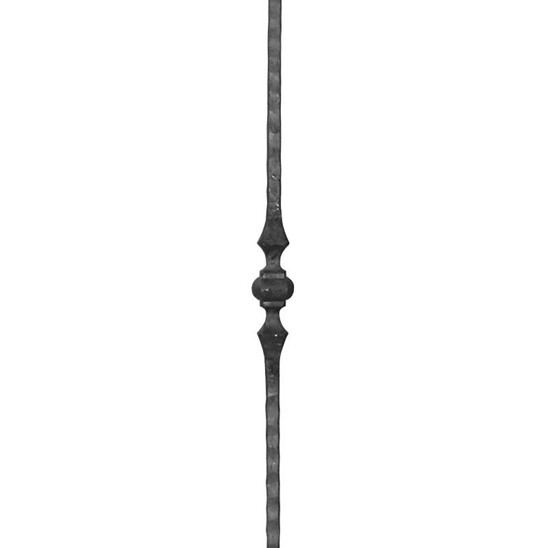 """14A/03SINGLE 1/2""""SQ. HAMMERED PICKET WITH SINGLE COLLAR 44"""""""