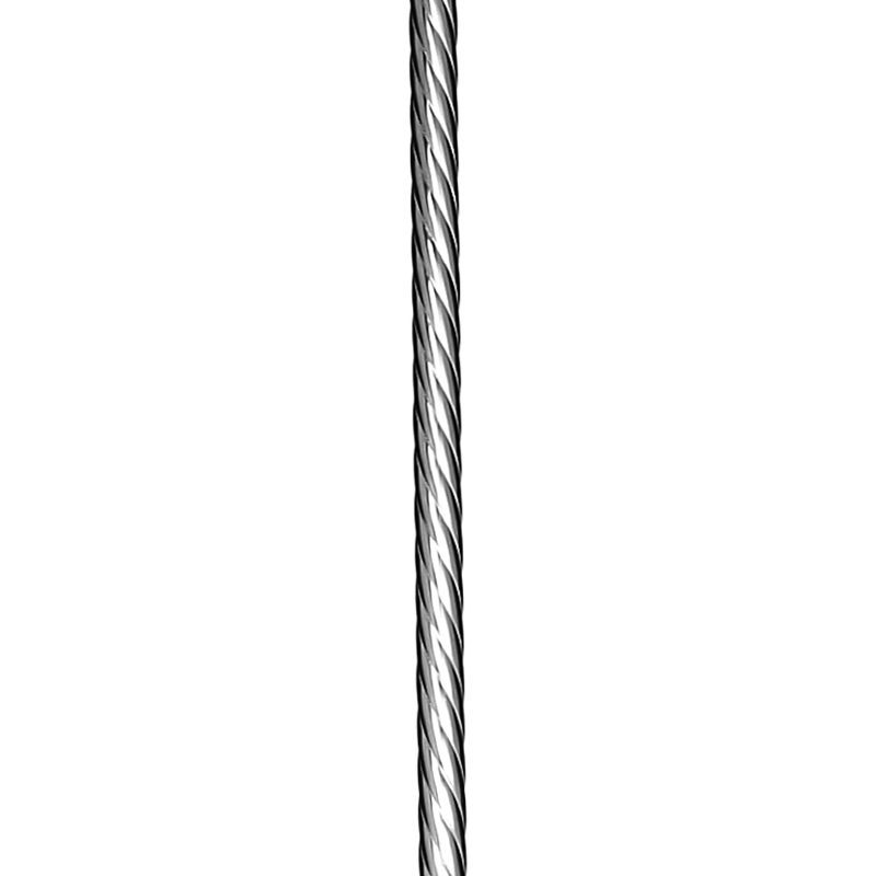 """EP58RDTR44BC  5/8""""RD. TWISTED ROPE ELECTRO PLATED BAR 44"""" - BRUSHED CHROME"""