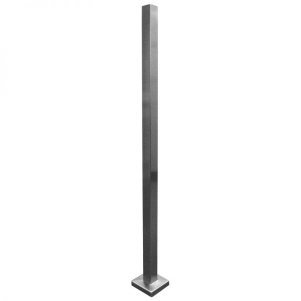 """SSPSQ4040 40 x 40 x 2.0mm SQUARE RAILING POST WITH 4"""" COVER 40"""" (SS316)"""