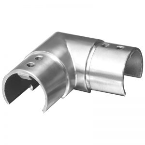 SSUTRND4243 ROUND CAP RAIL HORIZONTAL 90° ELBOW FOR 42.4 x 1.5mm HANDRAIL