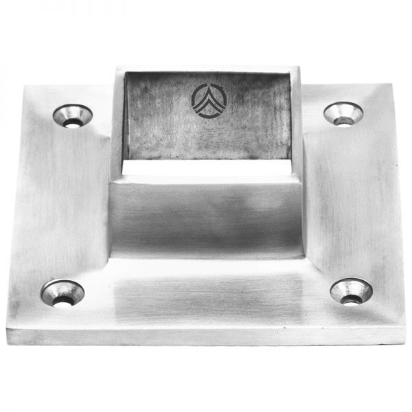 SSZC0404004S SQUARE BASE FLANGE FOR 40 x 40mm POST (SS304)