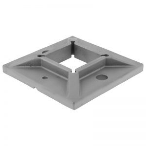 SSZW1000204N SQUARE BASE PLATE 100mm CAST FOR 40mm TUBING (SS304) (DISCONTINUED)