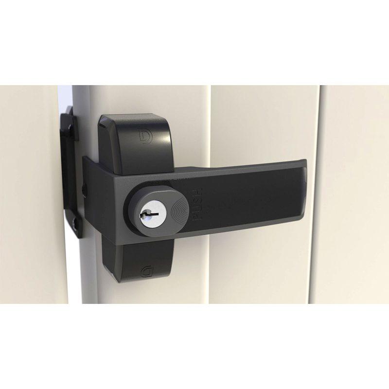 LLMKDBT LokkLatch MAGNETIC GATE LOCK / LATCH - BLACK (KEYED-DIFFERENT)