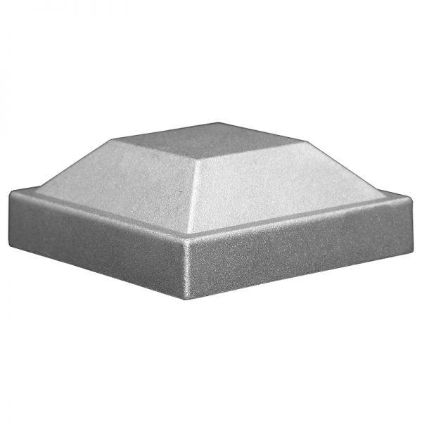"""AL4P  4""""SQ. ALUMINUM PYRAMID POST CAP 4 1/4""""W x 1 1/2""""H"""