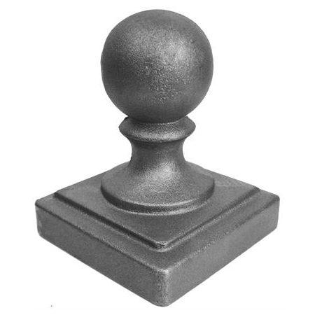 "119  4""SQ. NEWEL BALL POST CAP 4 3/8""W x 5 1/2""H"