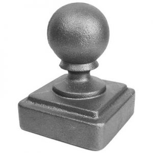 "120  3""SQ. NEWEL POST BALL CAP 3 1/2""W x 5 1/2""H"